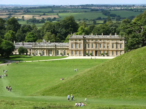Dyrham Park on the edge of the Cotswold Escarpment