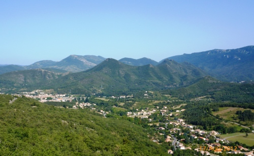 Col du Portel view over Quillan