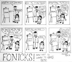 Phonics testing cartoon